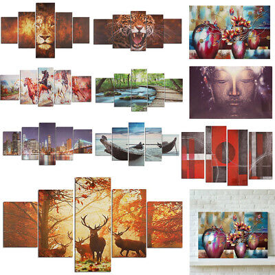 Huge Modern Abstract Home Wall Decor Art Print Oil Painting On Canvas Unframed