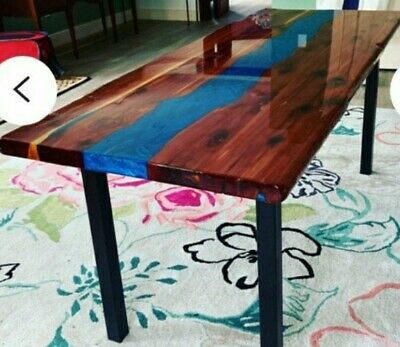 Live Edge Crafted River Dining table custom made