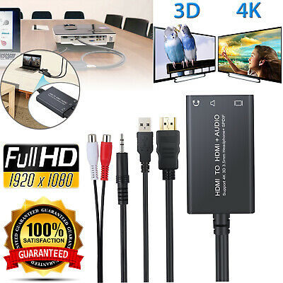 HDMI to HDMI + SPDIF Toslink or 3.5mm Stereo Audio Extractor Converter Splitter