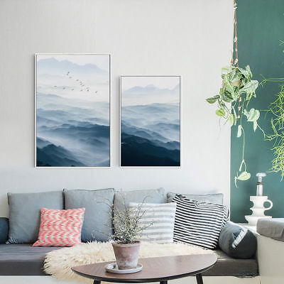 Landscape Mountain Canvas Poster Nordic Style Modern Home Decoration Art Print