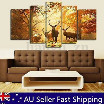 Unframed Deer Canvas Prints Modern Home Decor Wall Art Picture Room Oil Painting