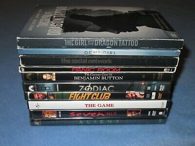 10 DVD Lot: DAVID FINCHER Complete COLLECTION (ALL 10 films directed by Fincher)