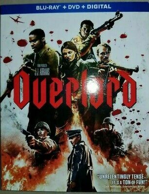 Overlord (Blu-Ray + DVD + Digital, 2019) . with Slipcover!!!