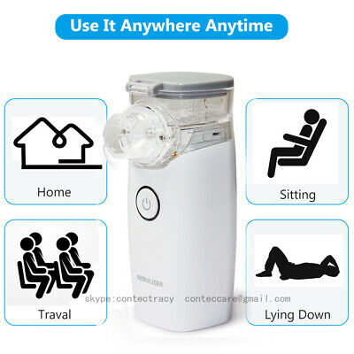 Portable Ultrasonic Mini Nebulizer Battery Operated For Child Adult Asthma COPD