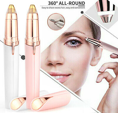 Flawless Brows Facial Hair Remover Electric Finishing Touch Face Eyebrow White