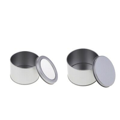 Round Tin Box Tea Candy Jewelry Money Coins Storage Case Container Organizer