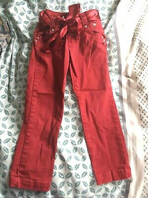 Girls Designer Red Trousers Zara  Age 2-3 Ex Cond