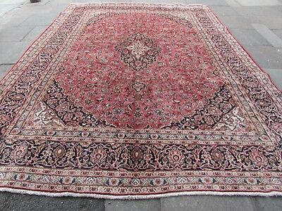 Old Hand Made Traditional Persian Rugs Oriental Wool Pink Large Carpet 383x292cm
