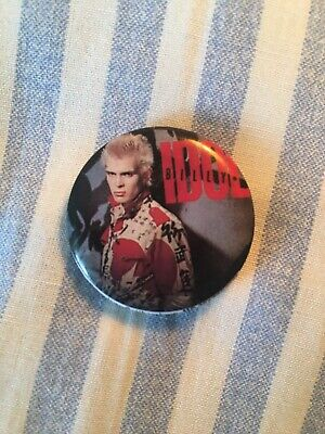Billy Idol Badge - Hot In The City Album Cover. Personalities Inc 2.5 Cm Across