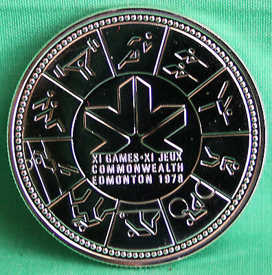 1978 Silver Dollar Canadian Common Wealth Games Edmonton CANADA COIN ONLY
