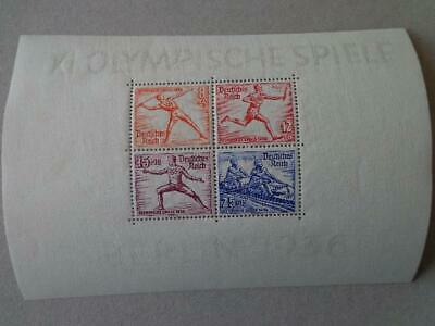 Germany Reich 1936 Sheets Mi Block 6 Sc B92 MLH Olympic Games Berlin thick paper