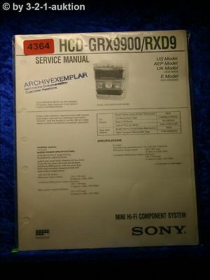 Sony Service Manual HCD GRX9900 /RXD9 Component System (#4364)