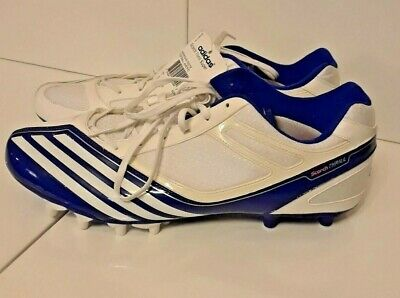 fd57dcb01 Adidas Scorch Thrill Mid D White   Blue Football Cleats Shoes Mens NWT SIZE  15