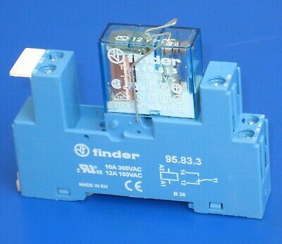 -  New with 95.05 Socket 240V ac Coil 8A DPDT Finder 40.52 Series Relay