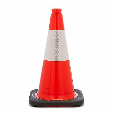 Orange Traffic Cone with a  6 inch 3M Reflective Collar