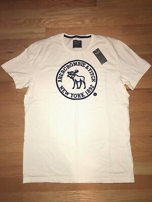 632e25c9 NWT ABERCROMBIE & Fitch Men's Slim Muscle Fit Tee Round-Neck T-Shirt ...