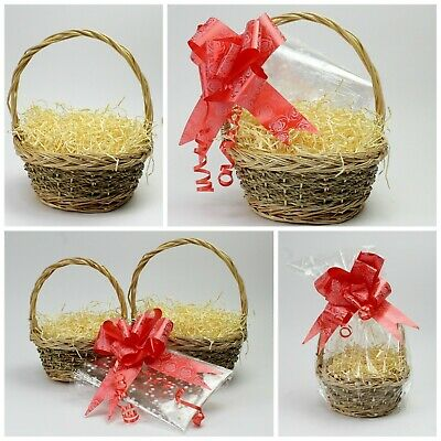 Make Your Own Round Seagrass Gift Basket Kit. Create Gift / Food /Chocolate Set