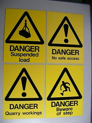 Four Danger / Warning Sign including Quarry Workings & Suspended Load (Lot c)