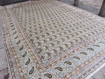 Old Hand Made Traditional Persian Rug Oriental Wool Cream Large Carpet 494x334cm