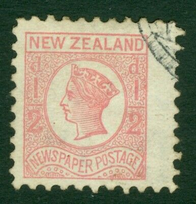 SG 143 New Zealand 1873. ½d pale dull rose, perf 10 WMK NZ. Superb used CAT £60