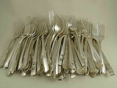 50 GUMBO Soup Spoon Polished Mixed Vtg Silverplate wedding catering restaurant