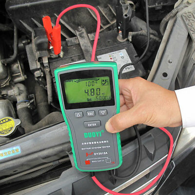12V Automotive Car Battery Tester Printer SOH mΩ CCA Cranking Alternator tester