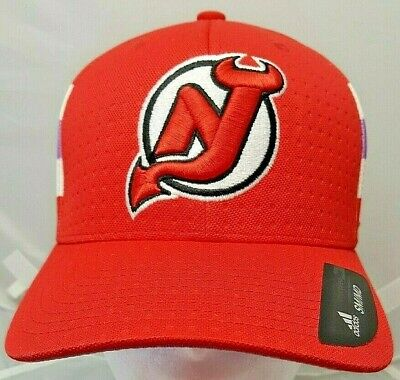 online store 20589 59af0 NEW JERSEY DEVILS NHL Adidas flex Hockey Fights Cancer cap/hat