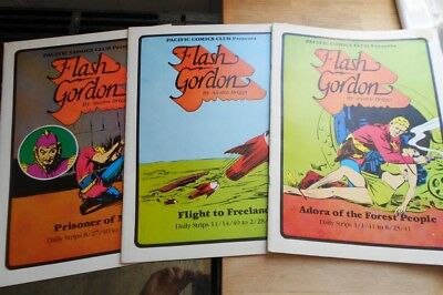 3 x Flash Gordon limited ed large format graphic novels 1981 Pacific Comics Club