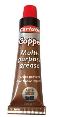 CARLUBE COPPER GREASE ANTI-SEIZE ASSEMBLY COMPOUND COPPER EASE 20g TUBE
