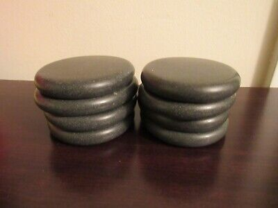 Set of 8 Large Oval Hot Therapy Massage Natural Smooth Stones NIB New