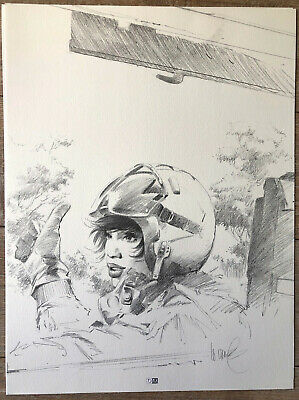 LITHO VANCE XIII TREIZE Signée 30 * 40 Cm TTBE GENERAL MAJOR JONES
