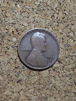 "1915 D Lincoln Wheat Cent Penny LH728 OLD ""TUCK"" FREE FAST SHIPPING"