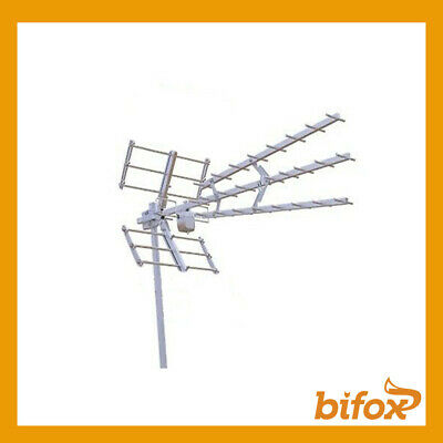 SPACEDIGITAL ANTENNA TV 46 ELEMENTI TRILINE UHF LTE FULL HD ATTACCO 60mm FULLHD