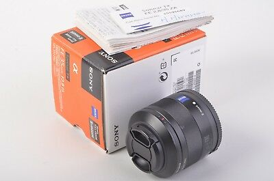 EXC+ BOXED SONY USA ZEISS 35mm f2.8 FE ZA SEL35F28Z, CAPS, INST., LIGHTLY USED