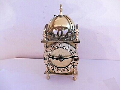 Found Smiths Brass Lantern  Clock Body & Movement Working# For Spares