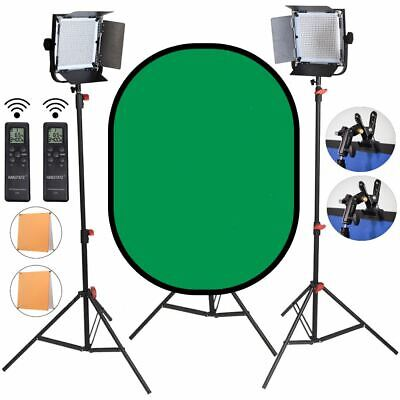 LED Light Panel / Video Light with background and Light stand Kit
