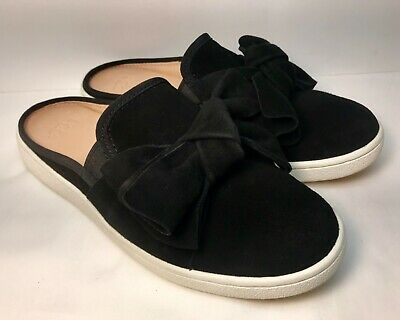 45fe69a86b8 UGG AUSTRALIA LUCI Bow Black Suede Mules Shoes Slip On 1092515 Women's Size  6 M