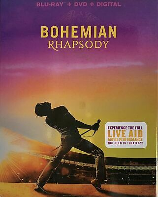 Bohemian Rhapsody (2018) Blu-ray + DVD + Digital +slipcover Live Aid Performance