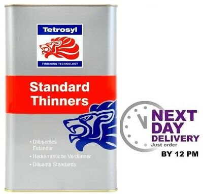 TETROSYL 5L STANDARD CELLULOSE PAINT THINNERS / CLEANER Gun Wash 5 litres