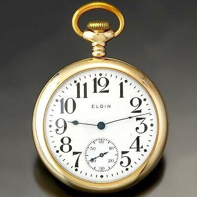 Antique Elgin Pocket Watch | 7 Jewel, 16 Size, Open Face, Gold Filled  CA1917