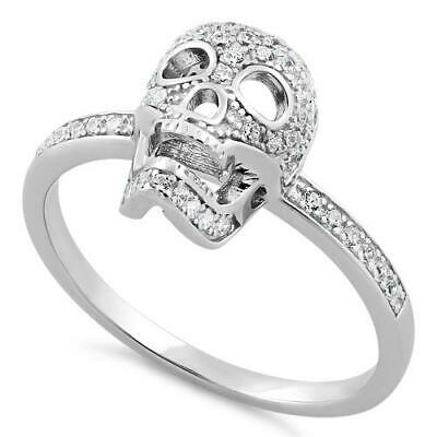 Melchior Jewellery Sterling Silver SKULL CZ Ring Womans Mens