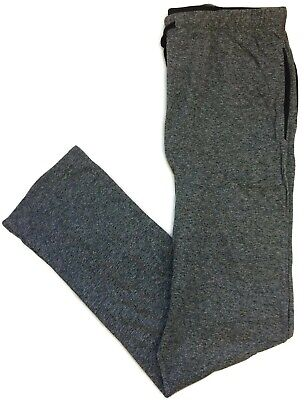 Hanes Charcoal Heather Pajama Pants for Men Lounge Cotton Blend Side Pockets