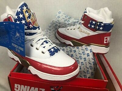 timeless design c3ef9 16302 New Ewing Athletics 33 Hi 4Th Of July Sneakers Red White Blue Fast Ship