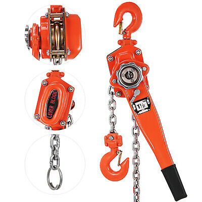 1500kg 1.5M Lever Block Chain Hoist Puller Pulley Hoist Safety 1.5 Ton PRO