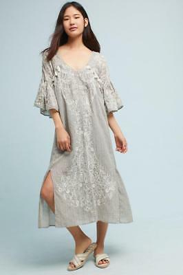 5dc501a16f39 (NWOT ANTHROPOLOGIE MAEVE TISDALE EMBROIDERED TASSEL MIDI DRESS sz 10)