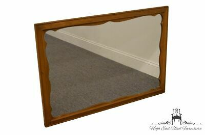 ETHAN ALLEN Heirloom Nutmeg Maple 27x38 Scalloped Dresser / Wall Mirror 545