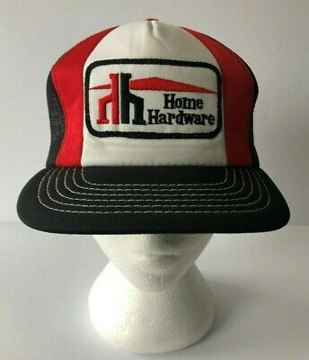 4f0e127275718 Rare Vintage Home Hardware Trucker Hat Mesh Cap Snapback Embroidered Patch