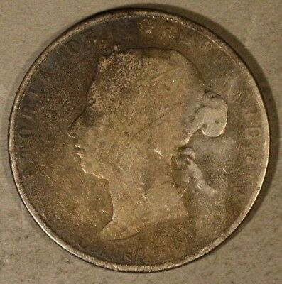 1898 Canada 50 Cents Silver Circulated Key Date        ** FREE U.S SHIPPING **
