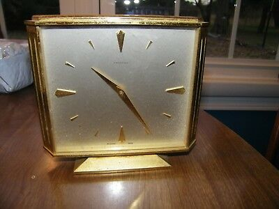 Vintage Art Deco Concord Clock Swiss 8 Day Gilt Gold Desk Table