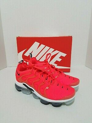 sports shoes cd8c4 a4c7c New Mens Nike Air Vapormax Plus Overbranding 924453 602 Red Bright Crimson  Sz 9